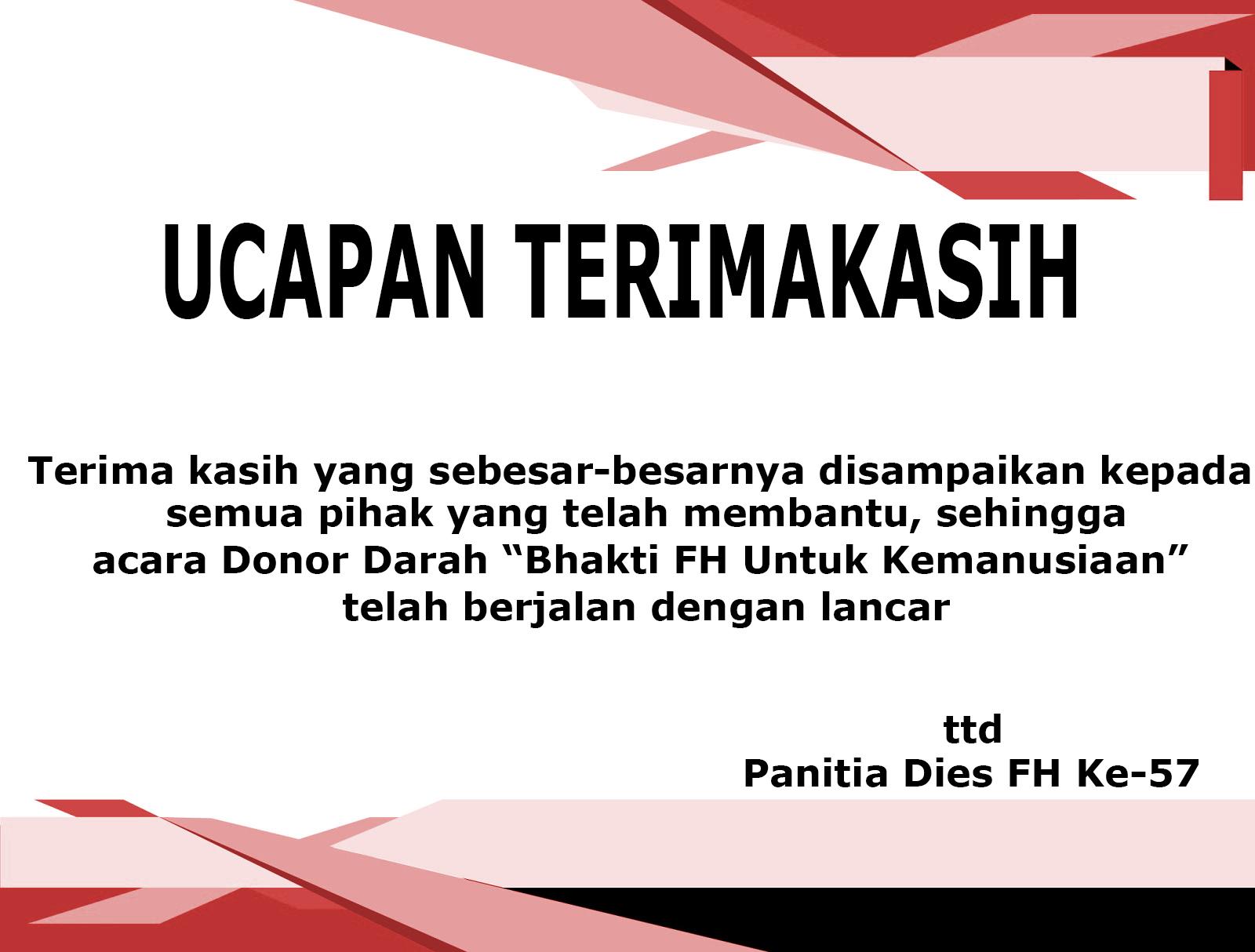 Ucapan Terimakasih Uta 45 Jakarta