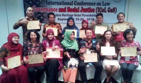 Dosen Hukum UTA'45  Goes To The 1st International Conference on Law, Governance and Social Justice (ICOLGAS)