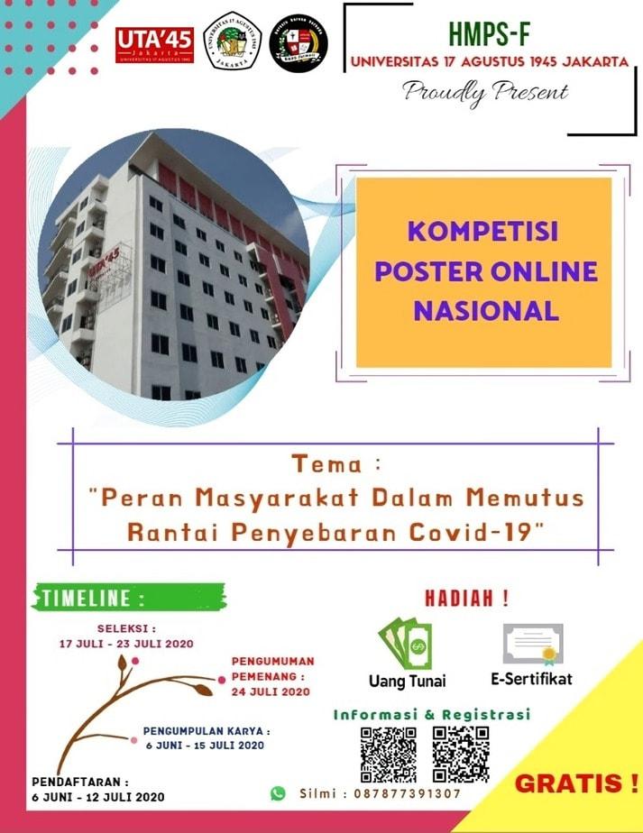 KOMPETISI POSTER ONLINE NASIONAL HMPS FARMASI UTA'45 JAKARTA