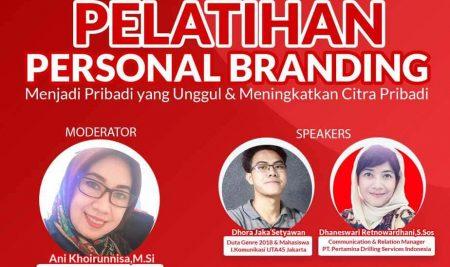 Pelatihan Personal Branding Menjadi Pribadi yang Unggul & Meningkatkan Citra Pribadi