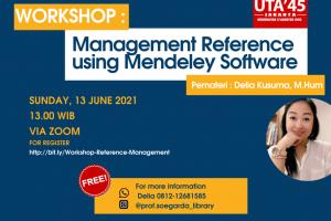 WORKSHOP MANAGEMENT REFERENCE Using mendeley (1)