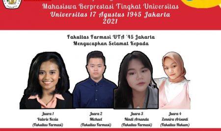 Pemilihan Mahasiswa Berprestasi Tingkat Universitas 17 Agustus 1945 Jakarta