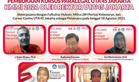 Pembukaan KMMI Kursus Paralegal Bersertifikat UTA'45 Jakarta